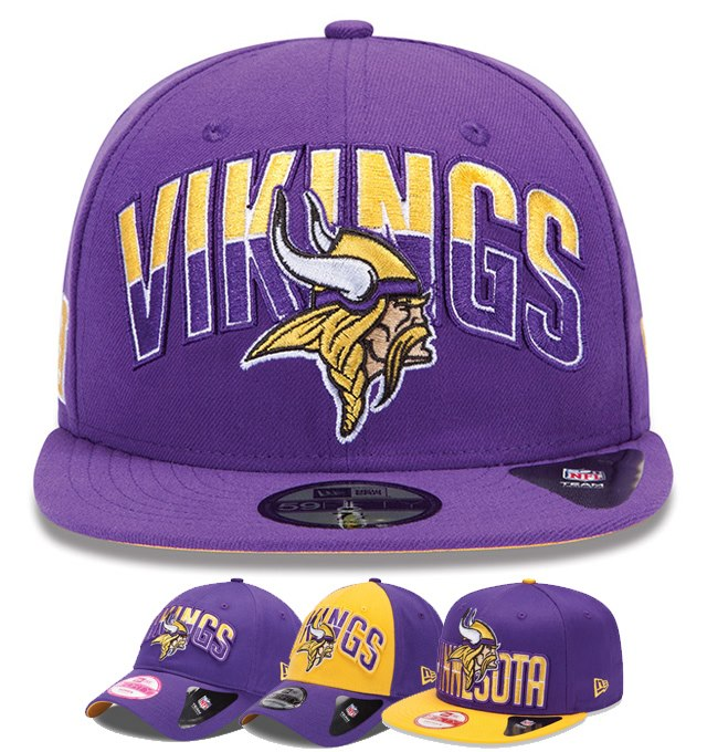 Check Out These Sharp Looking New Era Draft Collection Vikings Caps 8c25221e609
