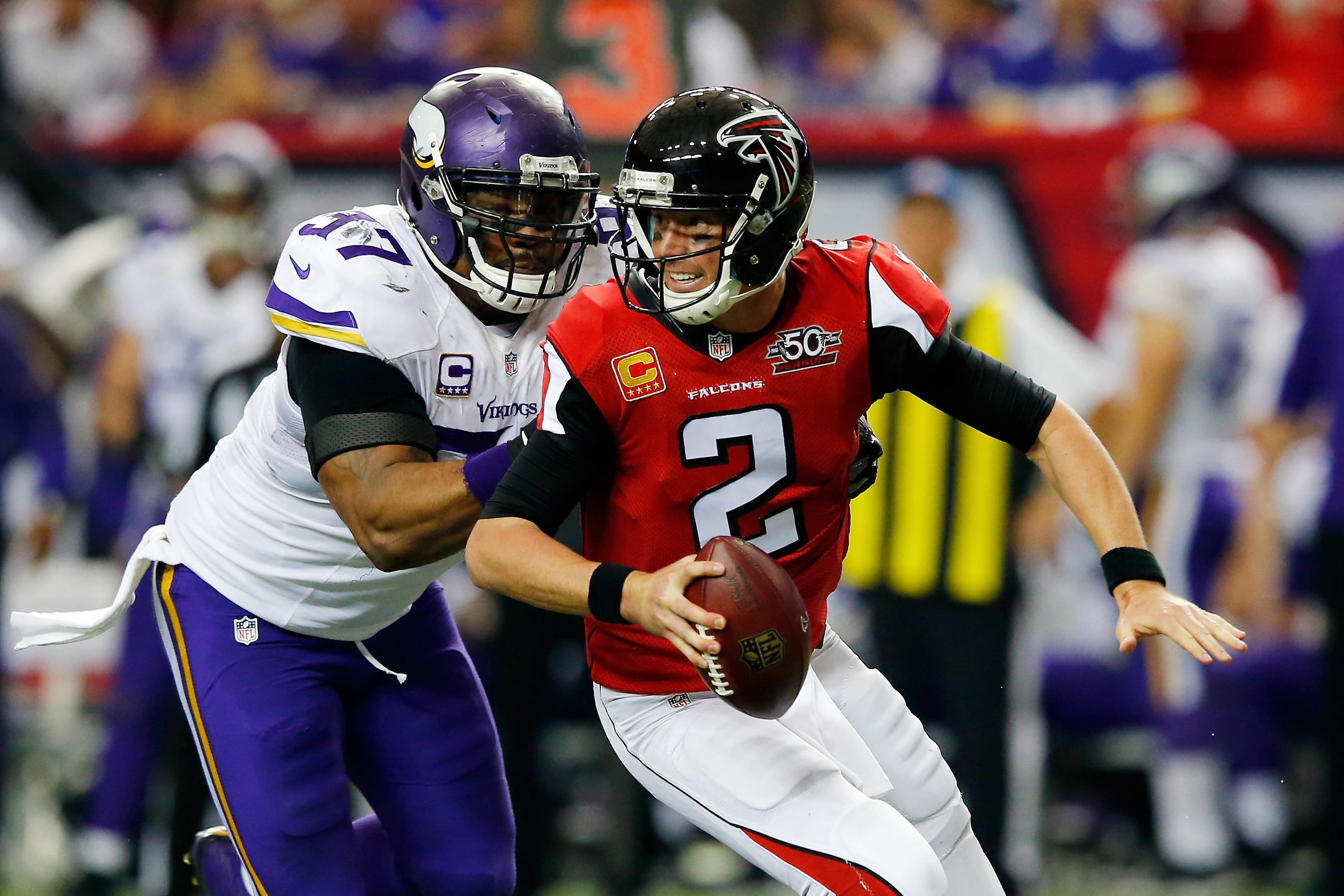 Minnesota Vikings DE Everson Griffen reaches 50 sacks for his career