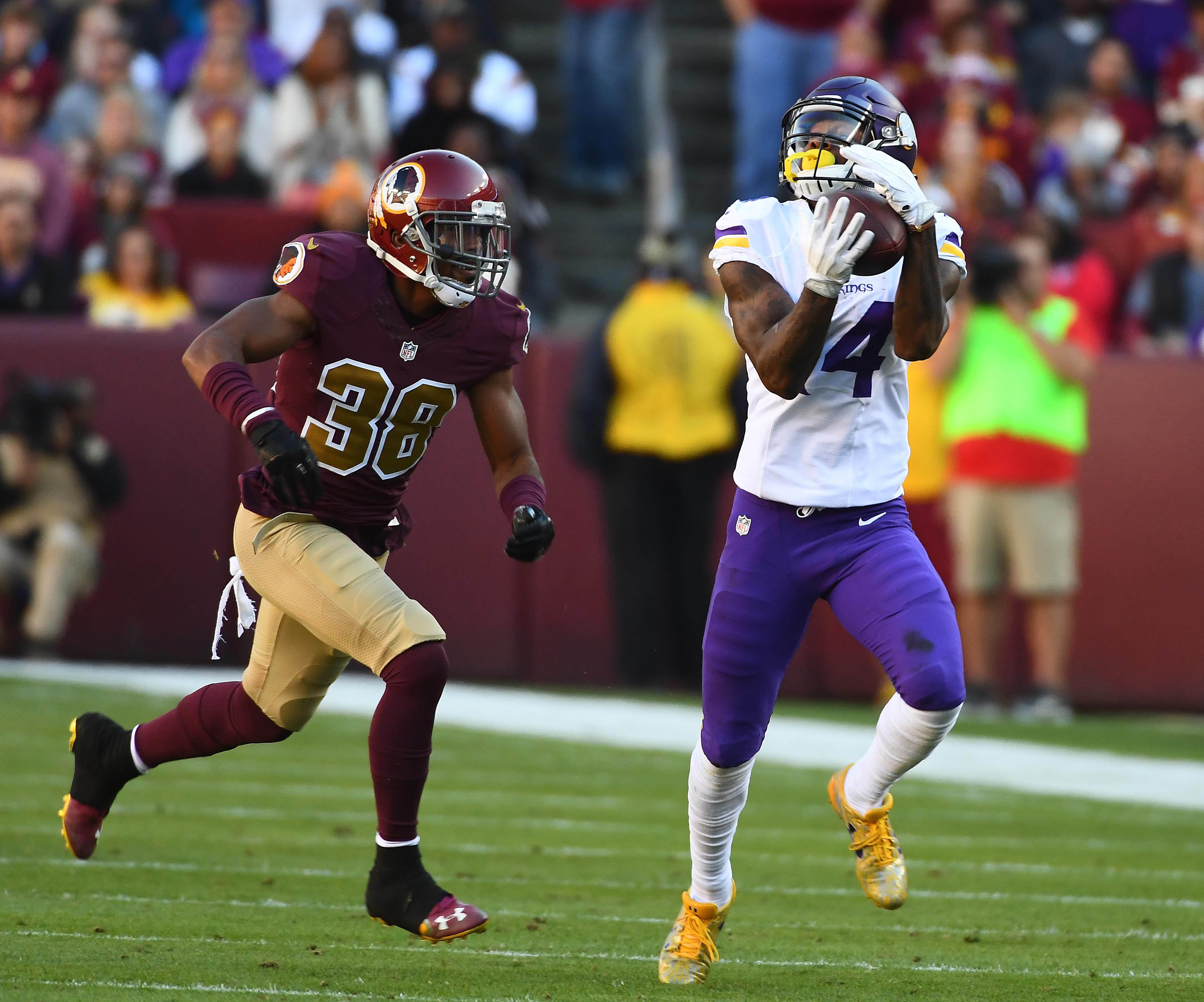 At his current pace Stefon Diggs is poised for a monster season